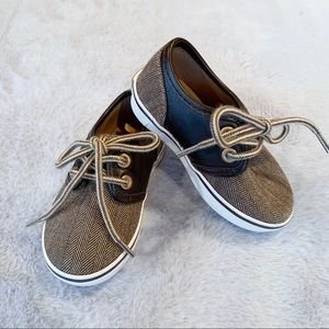 Janie and Jack Toddler Boy Brown Lace Up Shoes 5
